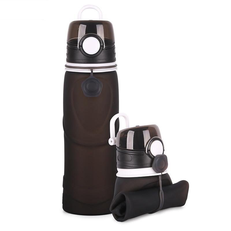 Складная силиконовая бутылка для воды 750 мл. Оптом и в розницу