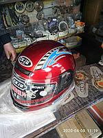 Шлем красный с воротником 55-58