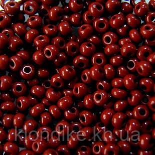 Бисер Чешский 13600 Preciosa (10/0), Круглый, Цвет: Бордовый непрозрачный (50 грамм/уп)