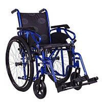 Коляска инвалидная OSD MILLENIUM III, ширина 43, голубая + насос OSD-STB3, фото 1