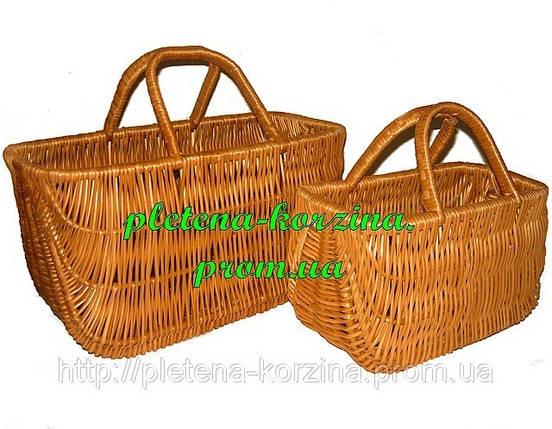 Набор сумок плетеных из лозы из 2шт. Арт.067-2, фото 2