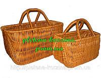 Набор сумок плетеных из лозы из 2шт. Арт.067-2