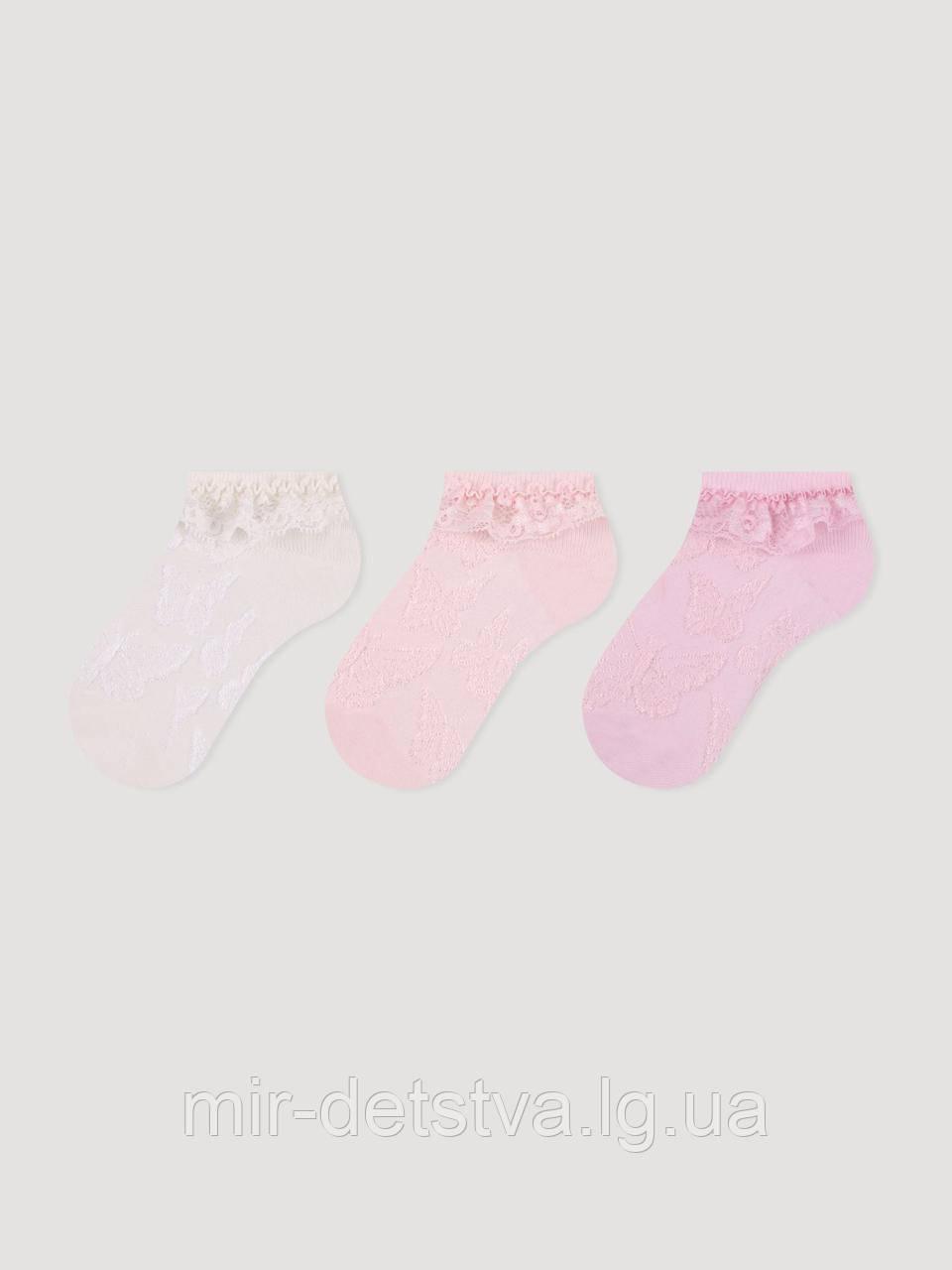 Нарядные носочки для девочки с рюшей TM BROSS, Турция оптом р.3-5 лет (25-27)