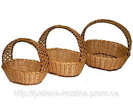 Набор плетеных корзин «Кобра» овальная из 3шт. Арт.305-3, фото 3
