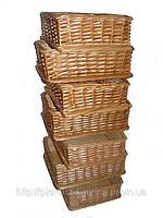 Плетеные Лотки из лозы разных размеров и дизайнов