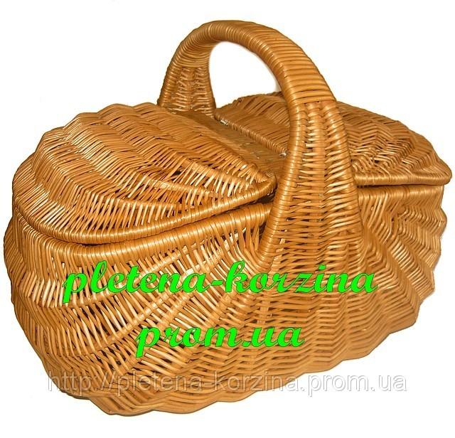 "Плетеная корзина для пикника ""Индонезия"" Арт.120"