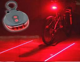 Велосипедний ліхтар, габарит лазер, велосипедний ліхтар задній з лазерами