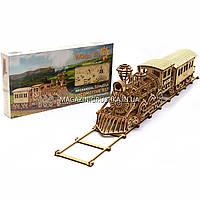 Деревянный механический конструктор Wood Trick поезд.Техника сборки - 3d пазл