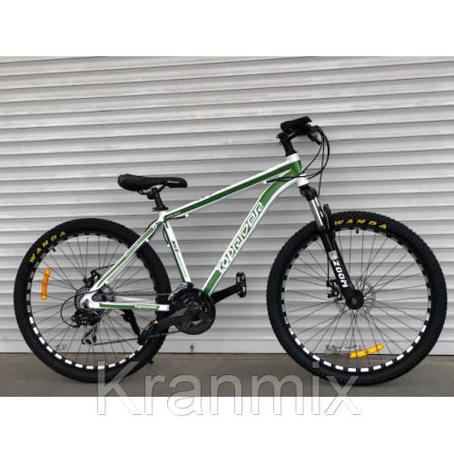 Велосипед TopRider алюминиевый 26 дюймов бело-салатовый (original Shimano)