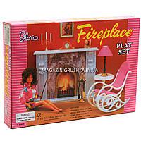 Детская игрушечная мебель Глория Gloria для кукол Барби «Камин» (96006)