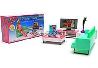 Детская игрушечная мебель Глория Gloria для кукол Барби Гостиная 2804. Обустройте кукольный домик