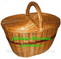 "Плетеная корзина для пикника ""феделканя"" Арт.124"