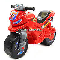 Детский Мотоцикл толокар Орион музыкальный (красный). Популярный транспорт для детей от 2х лет, фото 1