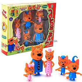 Дитячий ігровий набір фігурок «Три кота. Щаслива родина», 5 фігурок (PS653)