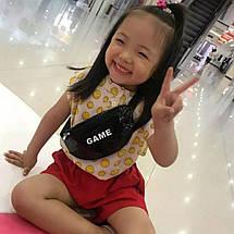Сумка поясная детская с принтом GAME, фото 2