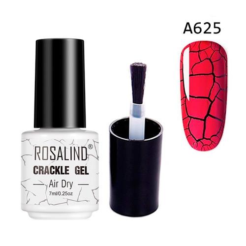 Гель-лак для ногтей маникюра 7мл Rosalind, кракелюр, А625 красный