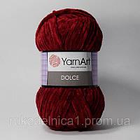 Пряжа Dolce 100гр - 120м (752 Бордо) YarnArt