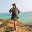 Шифоновое женское платье с рюшем, фото 3