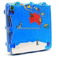 Игровой коврик-мозаика «Карта мира» M 2612, фото 1
