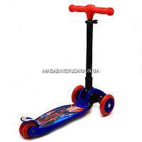 Самокат Best Scooter триколісний дитячий C38300 (ПУ колеса, тихі, що світяться, з ліхтариком на кермі), фото 2