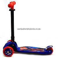 Самокат Best Scooter триколісний дитячий C38300 (ПУ колеса, тихі, що світяться, з ліхтариком на кермі), фото 3