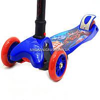 Самокат Best Scooter триколісний дитячий C38300 (ПУ колеса, тихі, що світяться, з ліхтариком на кермі), фото 5
