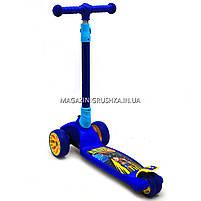 Самокат трехколесный детский 12330 Best Scooter (ПУ колеса, тихие, светящиеся, складывающаяся конструкция), фото 2