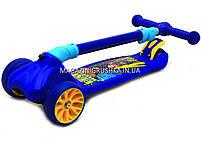 Самокат трехколесный детский 12330 Best Scooter (ПУ колеса, тихие, светящиеся, складывающаяся конструкция), фото 3