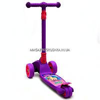 Самокат трехколесный детский 13440 Best Scooter (ПУ колеса, тихие, светящиеся, складывающаяся конструкция), фото 2