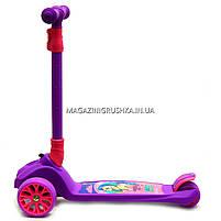 Самокат трехколесный детский 13440 Best Scooter (ПУ колеса, тихие, светящиеся, складывающаяся конструкция), фото 3