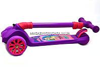 Самокат трехколесный детский 13440 Best Scooter (ПУ колеса, тихие, светящиеся, складывающаяся конструкция), фото 4