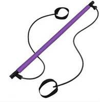 Палка для пилатеса Gobetters гимнастическая фиолетовая, фото 1