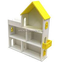Игрушечный кукольный деревянный домик Мария (желтый). Обустройте домик для кукол LOL, фото 2
