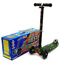Трехколесный самокат Scooter со светящимися колесами для детей и подростков весна-лето 779-1317 Люди Х