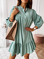 Платье женское свободное беж, зелёное 42-44 44-46
