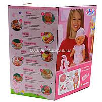 Интерактивная кукла Baby Born (беби бон). Пупс аналог с одеждой и аксессуарами 9 функций беби борн 8006-455, фото 2
