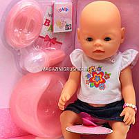 Интерактивная кукла Baby Born (беби бон). Пупс аналог с одеждой и аксессуарами 9 функций беби борн 8006-455, фото 3