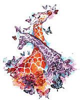 Картина по номерам Цветные жирафы AS 0269, фото 1