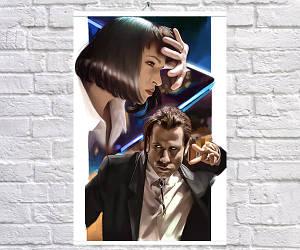 Постер BEGEMOT Криминальное чтиво Pulp Fiction 40x61 см (1121199)