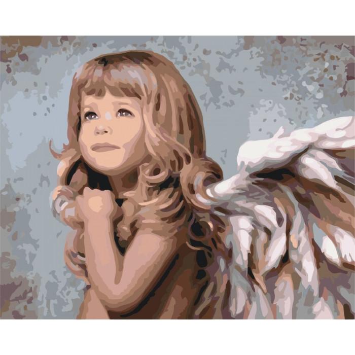 Картина по номерам Маленький ангелочек ТМ Идейка 40 х 50 см КНО2309
