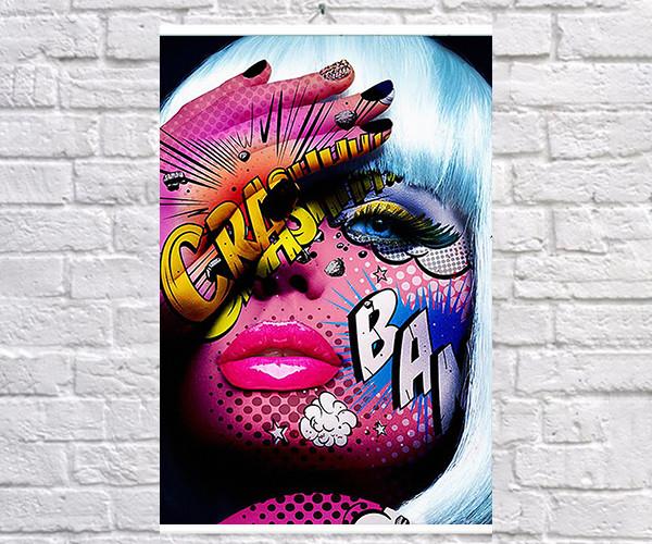 Постер плакат BEGEMOT Поп-Арт Девушки Pop-Art Girls 40x61 см (1121208)
