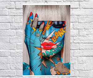 Постер плакат BEGEMOT Поп-Арт Девушки Pop-Art Girls 40x61 см (1121215)