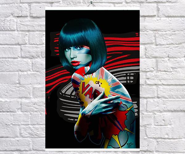 Постер плакат BEGEMOT Поп-Арт Девушки Pop-Art Girls 40x61 см (1121218)
