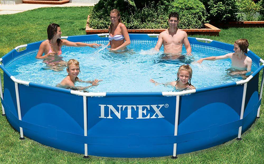 Круглый каркасный бассейн Intex 28200 (305х76 см) Metal Frame Pool