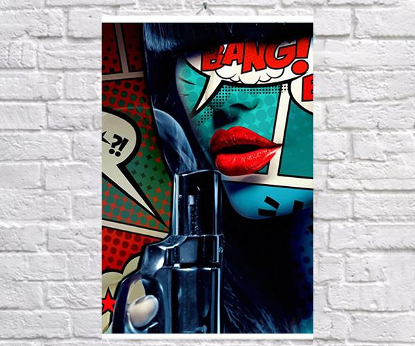 Постер плакат BEGEMOT Поп-Арт Девушки Pop-Art Girls 40x61 см (1121220)