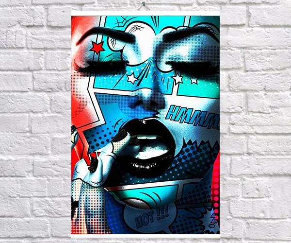 Постер плакат BEGEMOT Поп-Арт Девушки Pop-Art Girls 40x61 см (1121221)