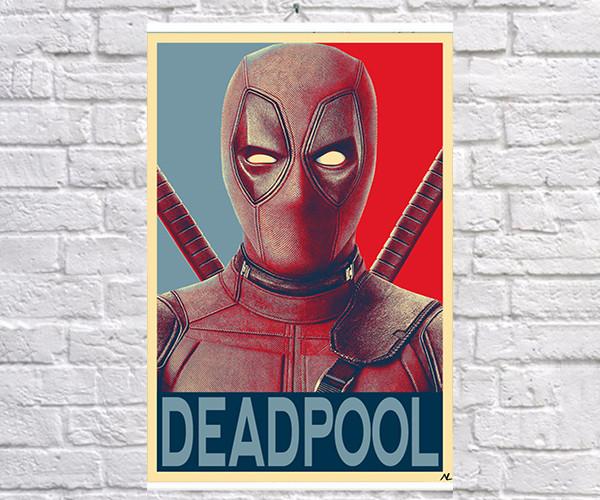 Постер плакат BEGEMOT Поп-Арт Уэйд Уилсон Дедпул 40x61 см (1121224)