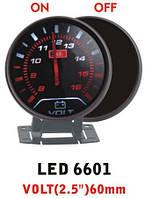 Дополнительный прибор Ket Gauge LED 6601 вольтметр. Приборы для тюнинга.