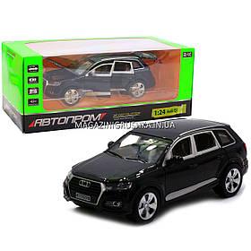 Машинка игровая автопром «Audi Q7» джип, металл, 18 см, черный, свет, звук, двери открываются (7689)