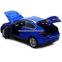 Машинка ігрова автопром «BMW X6» джип, метал, 18 см, чорний, світло, звук, двері відкриваються (7860), фото 2